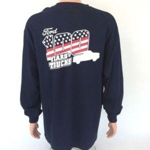 Men's Ford F150 T-Shirt Navy Size XL Long Sleeve